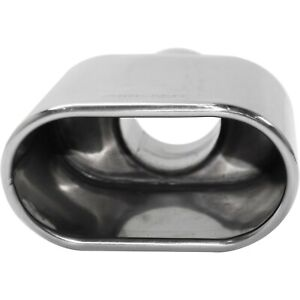 Exhaust Tip Universal Polished Stainless Steel Oval Rolled 1 Piece
