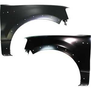 Fender Set For 2004 2006 Ford F 150 Front Primed Steel W Molding Holes Pair