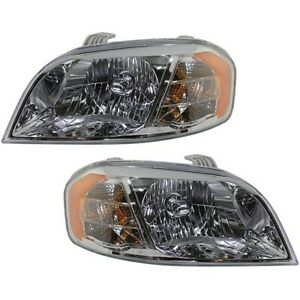 Headlights Headlamps Left Right Pair Set New For Chevy Aveo Brand New