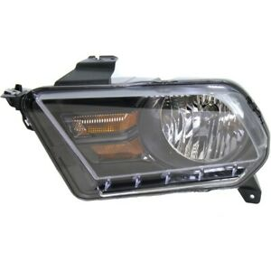 Headlight For 2010 2014 Ford Mustang Left Black Housing With Bulb Capa