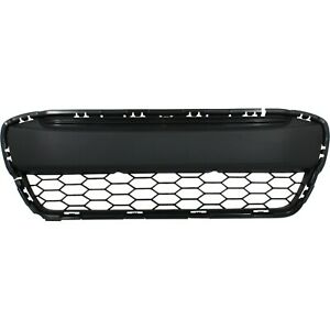 Bumper Grille For 2012 2013 Honda Civic Coupe Center Textured Gray Plastic Capa