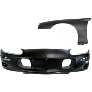 Bumper Cover Kit For 98 2002 Chevrolet Camaro Front Left 2pc