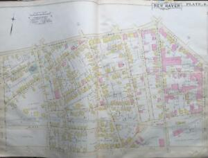 1888 The Hill New Haven Connecticut Amistad Park Armory Atlas Map