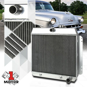 Aluminum 3 Row Performance Radiator For 49 54 Chevy Bel Air fleetline styleline
