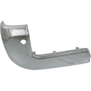 New Bumper Face Bar End Extension Rear Driver Left Side Chrome Lh Hand To1104132