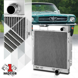 Aluminum 2 Row Core Performance Cooling Radiator For 64 66 Ford Mustang At Mt