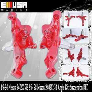 For 89 94 Nissan 240sx S13 95 98 Nissan 240sx S14 Angle Kits Suspension Red