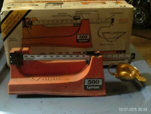 1987 Lyman Model 500 Magnetic Powder Scale 505 Grain Capacity