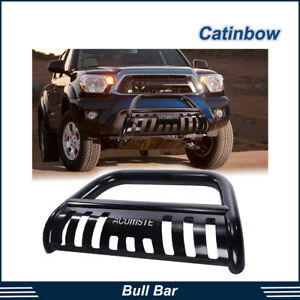 Bull Bar Heavy Duty Bumper Grill Grille Guard Skid Blk For 05 15 Toyota Tacoma