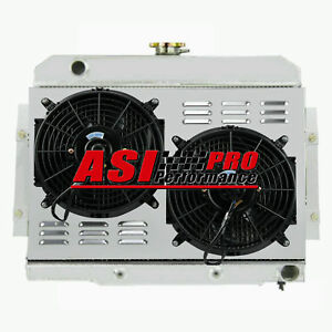 2 Row Radiator Shroud Fan For Jeep Cj Cj5 Cj7 72 86 Chevy Small Block 350 V8 Pro