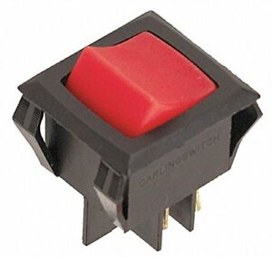 Carling Technolog Lighted Rocker Switch dpst 4 Connections Lrgsck611 rs bo 125n