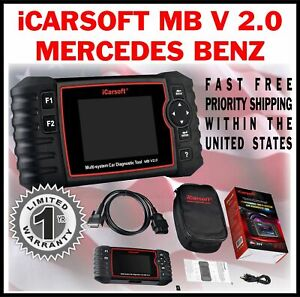 Mercedes Benz C Class 203 204 Obd2 Scan Tool Reset Check Engine Light Abs Mbii