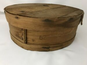 Vtg Dutch Shaker Style Bentwood Pantry Round Primative Crate 15 Cheese Hat Box