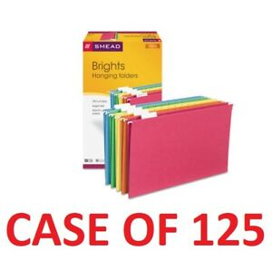 Smead 64159 Office Hanging File Folders Assorted 1 5 Tab Legal Size case 125