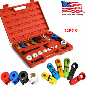 22pc Fuel Air Conditioning A C Transmission Oil Cooler Line Disconnect Tool Set