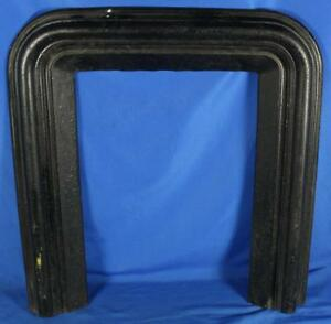 Antique 1800 S S S Bent Ny Cast Iron Fireplace Surround Hearth 33 X 30
