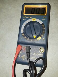 Wavetek 5xl Multimeter With Digital Display And Test Probes