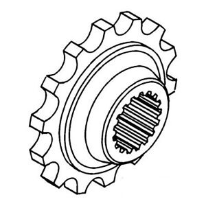 155533a White Oliver Tractor Rear Coupler Sprocket 1550 1555 1600 1650 1655