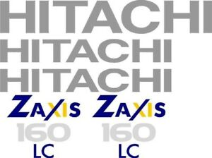 Hitachi Excavator Decal Set For Zaxis 160 Lc Brand New