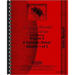 Reproduction International Harvester 1086 Tractor Engine Parts Manual