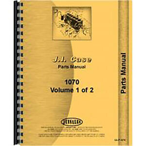 New Case 1070 Tractor Parts Manual