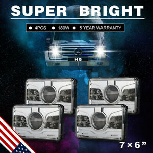4x6 Cree 6000k Led Headlight Assembly Hi lo Sealed Beam Fit Kenworth H4651 7us