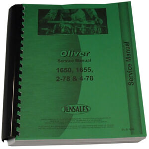 New Tractor Service Manual Made To Fit Cockshutt Oliver 1650