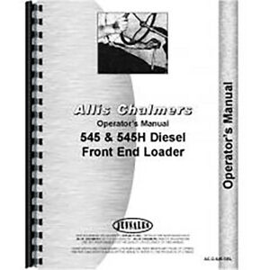 Operators Manual For Allis Chalmers Cultivator Models 61a 62 64 66
