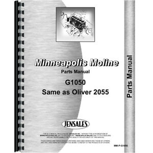New Oliver 2055 Tractor Parts Manual
