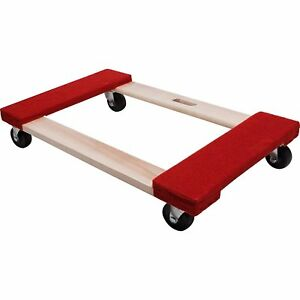 Heavy Duty Carpeted Furniture Moving Dolly Red 3in Casters 840lb Load Appliance