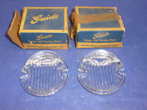 Pair Nos Gm 1958 Chevy Nomad Station Wagon Clear Glass Backup Light Lens Sct1