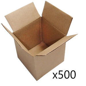 500 4x4x4 Corrugated Cardboard Shipping Boxes packing cartons mailing moving