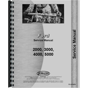 Service data Manual For Ford 5000 Tractor