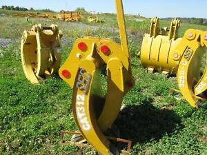 Cat Farm Excavator Adjustable Half Stationary Demolition Clam Shell Grapple