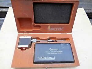 Starrett No 657 Magnetic Base With 711 Last Word Dial Indicator Set 001