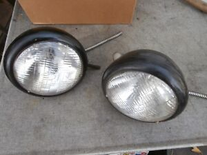 2 Antique 1920 S 1930 S 1932 Plymouth 6 Volt Headlights