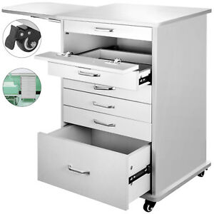 Medical Dental Equipment Alabama Assistant s Mobile Cabinet Cart White