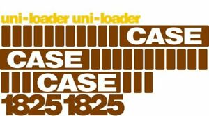 Whole Machine Decal Set With Uni loader Decals For Case Skidsteer 1825