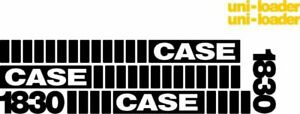 Whole Machine Decal Set With Uni loader Decals For Case Skidsteer 1830