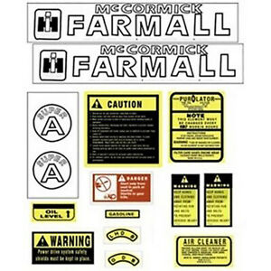 Fa601sb Dihcsa Hood Decal Set For Farmall Case ih Harvester Tractor Super A
