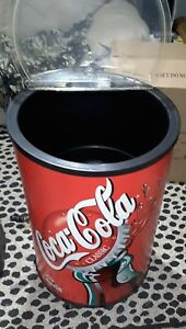 Vintage Round Coca-Cola Soda Bottle Can Ice Chest mancave tailgate party cooler