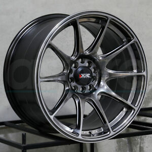 17x9 75 Xxr 527 5x100 5x114 3 25 Chromium Black Wheels Rims Set 4