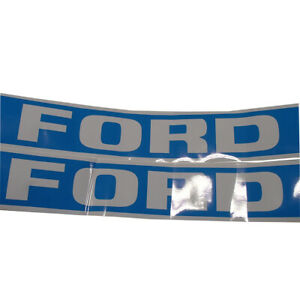 High Quality Tw15 Ford Tractor Blue Hood Decal Kit Vinyl