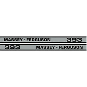 High Quality 393 Massey Ferguson Tractor Hood Cab Decal Kit