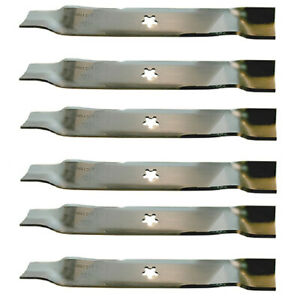 Set Of Six 6 Hi lift Mower Blades 340 038 Ayp 176084 46 Deck Compact Tractor