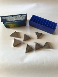 Teledyne Firth Sterling Tpg 432 Lathe Carbide Inserts 7 Pcs Nos Sd 3 Turning