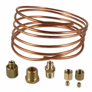 Oil Pressure Gauge Tubing Line Kit 1 8 X 72 Dia Copper For Case Tractor Abc523