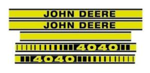 Jd4040tp John Deere Tractor Hood Decal Set 4040