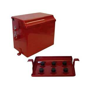 Painted Battery Box Deluxe Farmall Ih International Tractor Super M Md Mv W6 Wd