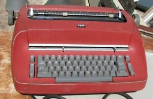 Ibm Selectric Electric Typewriter model 71 Red Hurry Get It By Christmas